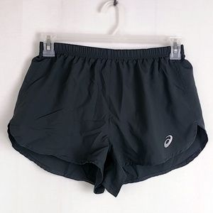 Asics Womens sz M Black Running Shorts